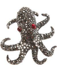 Kenneth Jay Lane - Octopus Pin - Lyst