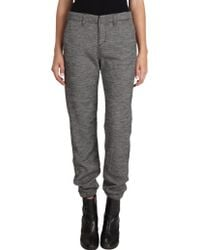 Rag & Bone Pajama Pants Houndstooth gray - Lyst