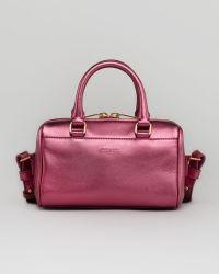 Saint Laurent Metallic Duffel Toy Bag Pink - Lyst