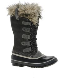 Sorel Joan Of Arctic Brown Faux Fur Cuffed Boots - Lyst