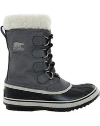 Sorel Winter Carnival Pewter Snow Cuffed Boots - Lyst