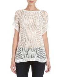 Thakoon - Open Crochet Knit Short Sleeve Jumper - Lyst