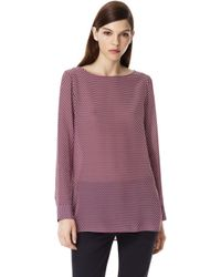 Theory Toska Top in Cubes Silk - Lyst