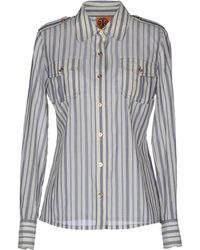 Tory Burch Long Sleeve Shirt - Lyst