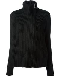 Helmut Lang - Ribbed Zip Cardigan - Lyst