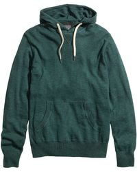 H&M Knitted Hooded Jumper - Lyst