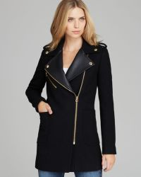 Juicy Couture - Coat Melton Moto - Lyst