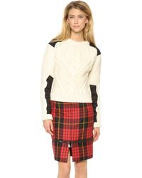 McQ by Alexander McQueen Cable Sweater - Lyst
