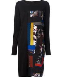 Paul Smith Black Label Printed Sweater Dress - Lyst