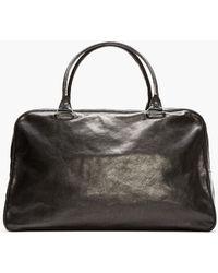 Ann Demeulemeester - Black Buffed Leather Large Duffle Bag - Lyst