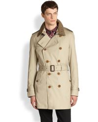 Burberry Brit Britton Double Breasted Trench Coat - Lyst