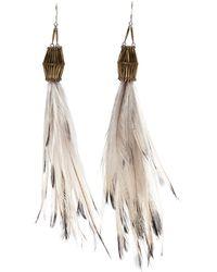 Clemmie Watson - Emu Feather Earrings - Lyst