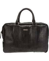John Richmond - Python Skin Bag - Lyst