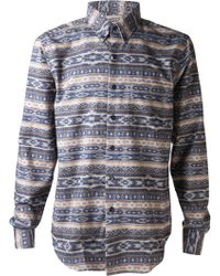 Naked & Famous Brushed Native Print Shirt - Lyst