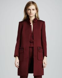 Rachel Zoe Catalina Standcollar Coat in Wine - Lyst