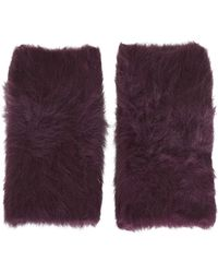 TOPSHOP - Ultra Furry Hand Warmers - Lyst