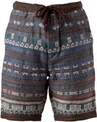 White Mountaineering - Multi Color Pattern Short - Lyst