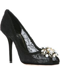 Dolce & Gabbana Lace Heeled Pumps - Lyst