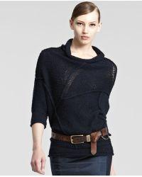 Donna Karan - Extralong Distressed Leather Belt - Lyst