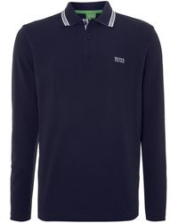 Hugo Boss Long Sleeve Plosy Polo Shirt - Lyst