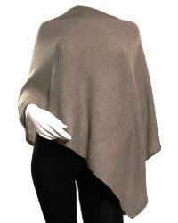 Black.co.uk Light Brown Knitted Cashmere Poncho - Lyst