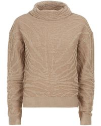Carven Animal Knit Sweater - Lyst
