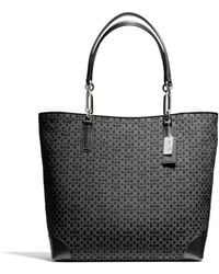 Coach Madison Northsouth Tote in Op Art Needlepoint Fabric - Lyst