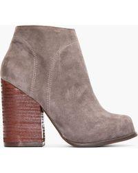 Jeffrey Campbell Dark Grey Suede Hanger Ankle Boots - Lyst