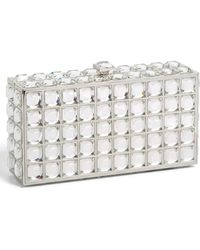 Natasha Couture Women'S Box Clutch - Metallic - Lyst