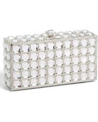 Natasha Couture Box Clutch - Metallic - Lyst
