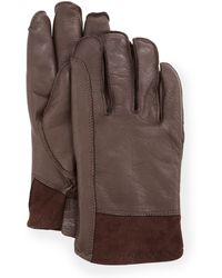 Ugg Mens Gibson Leather Gloves - Lyst