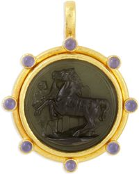 Elizabeth Locke - Ancient Horse 19K Gold Intaglio Pendant - Lyst