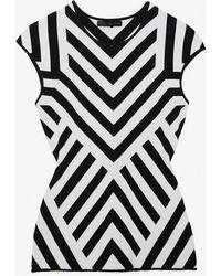 RVN - Chevron Pattern Sleeveless Knit - Lyst