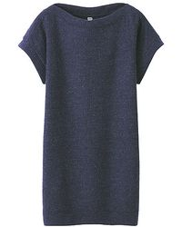 Uniqlo Boat Neck Short Sleeve Dress - Lyst