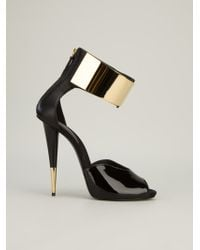 Giuseppe Zanotti Ankle Strap Sandal black - Lyst