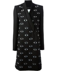 Kenzo Eye Embroidered Coat - Lyst