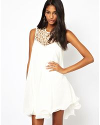 Marie Meili - Lipsy Vip Trapeze Swing Dress with Cage Neck - Lyst