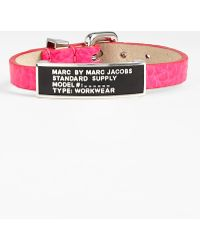 Marc By Marc Jacobs Standard Supply Leather Id Bracelet - Lyst
