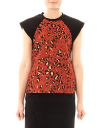 Josh Goot Leopard Jacquard Muscle T-shirt - Lyst