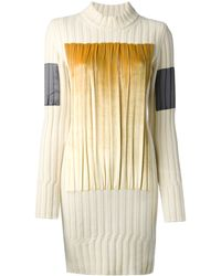 Maison Margiela Pleated Panel Sweater Dress - Lyst
