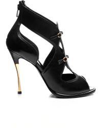 Nicholas Kirkwood Leather Opentoe Sandals black - Lyst
