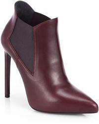 Saint Laurent Paris Leather Ankle Boots - Lyst