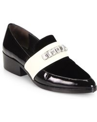 3.1 Phillip Lim Jeweled Patent Leather Loafers - Lyst