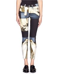 Acne Studios Photomontage Print Skinny Jeans - Lyst