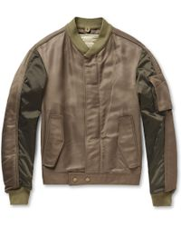 Balenciaga Panelled Bomber Jacket with Detachable Quilted Lining - Lyst