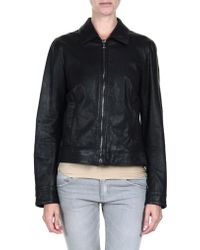Dolce & Gabbana Leather Outerwear - Lyst
