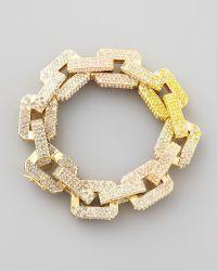 Eddie Borgo - Supra Large Pavelink Chain Bracelet Yellowpink - Lyst