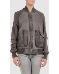 Gold Case Leather Outerwear - Lyst