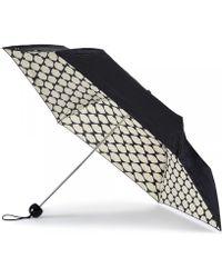Lulu Guinness Lips Grid Superslim Umbrella - Lyst