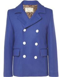 Maison Kitsuné - Quilted Woolblend Peacoat - Lyst